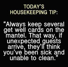 Housekeeping tip