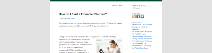 Here is a handy article by yours truly on the Triage Cancer Blog about how to find a financial planner.